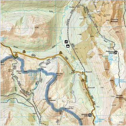 National Geographic Map - southern Colorado